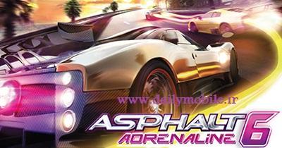 دانلود بازی ماشین سواری آسفالت 6 برای سیمبیان Asphalt 6 - Adrenaline