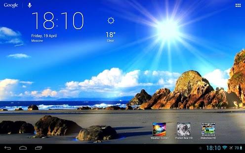 بهترین برنامه ی پیش بینی آب و هوا بر روی هوم اسکرین اندروید Weather Screen Full