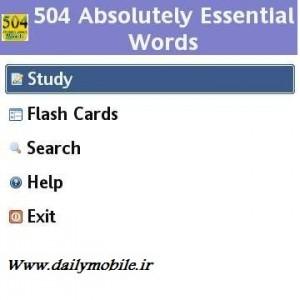دانلود نرم افزار 504 کلمه پر کاربرد انگلیسی برای جاوا  504 Words