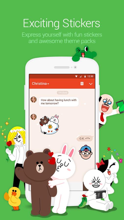 جدیدترین نسخه ی لاین برای اندروید LINE Free Calls & Messages