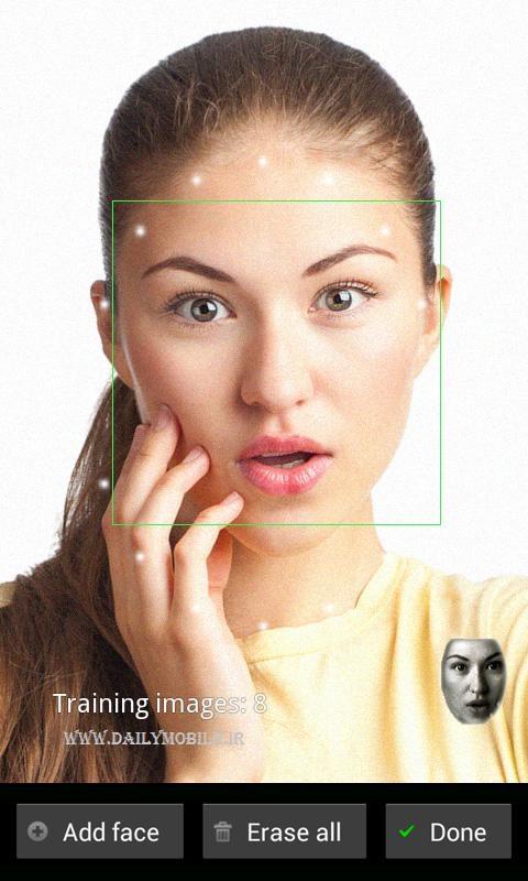باز کردن قفل اندروید به وسیله ی تشخیص چهره FaceLock Pro
