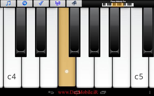 دانلود برنامه ی پیانو برای اندروید Piano Melody Pro