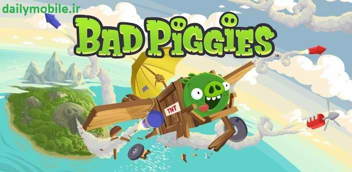 دانلود بازی بسیار زیبای خوک های بد برای اندروید Bad Piggies HD
