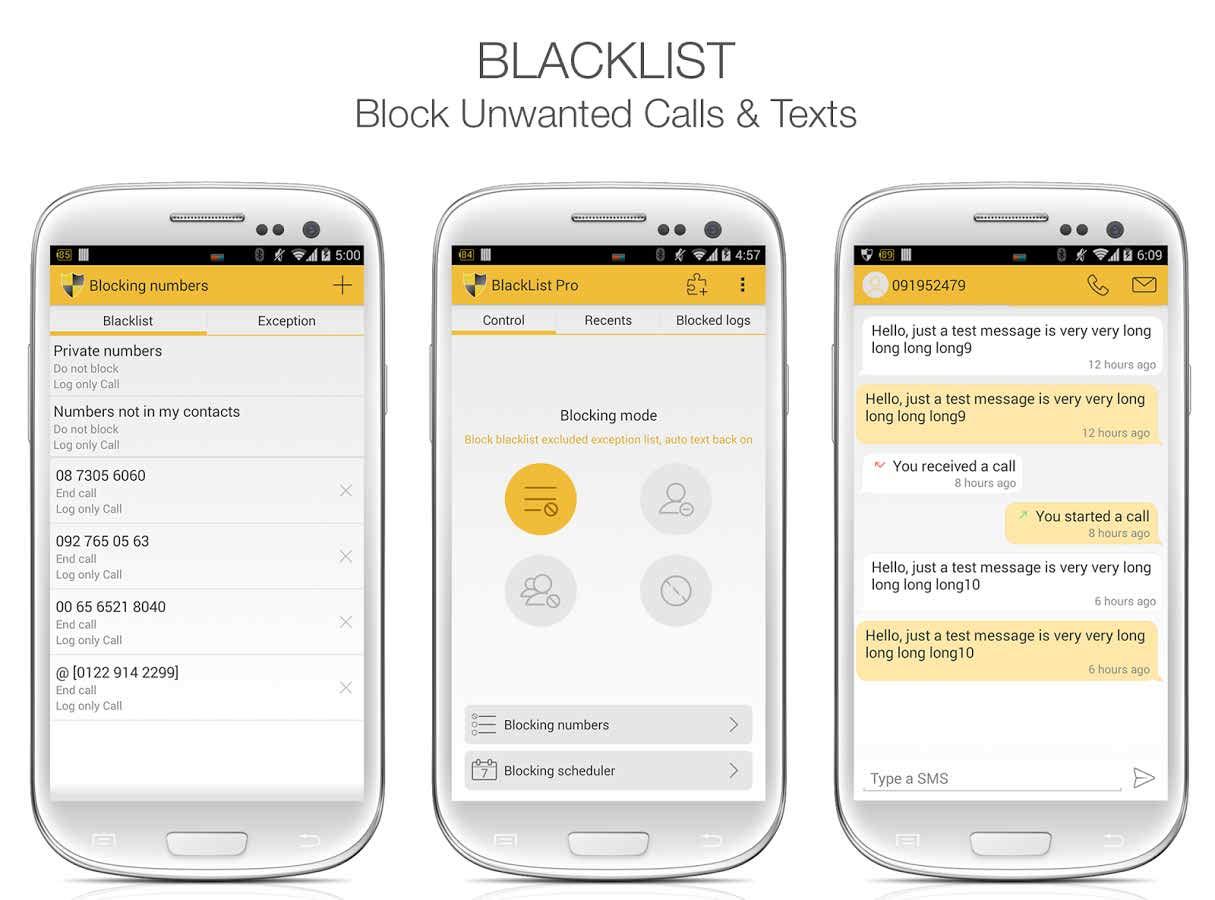 BlackList Pro بلاک کردن تماس ها و sms های ناخواسته در اندروید