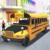 دانلود بازی زیبای رانندگی اتوبوس مدرسه در شهر City School Bus Driver 3D برای اندروید