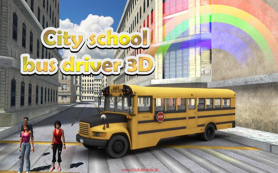 بازی City School Bus Driver 3D v1.1 مخصوص اندروید