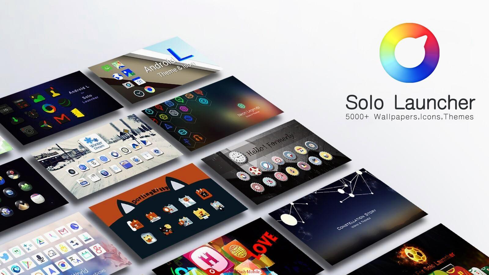 دانلود لانچر زیبای سولو برای اندروید Solo Launcher-Clean,Smooth,DIY