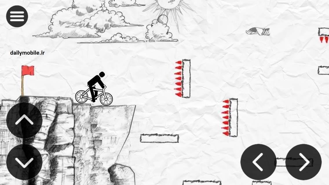 دانلود بازی زیبای Paper bike برای اندروید با لینک مستقیم