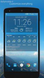 دانلود ویجت هواشناسی برای اندروید Weather & Clock Widget Android