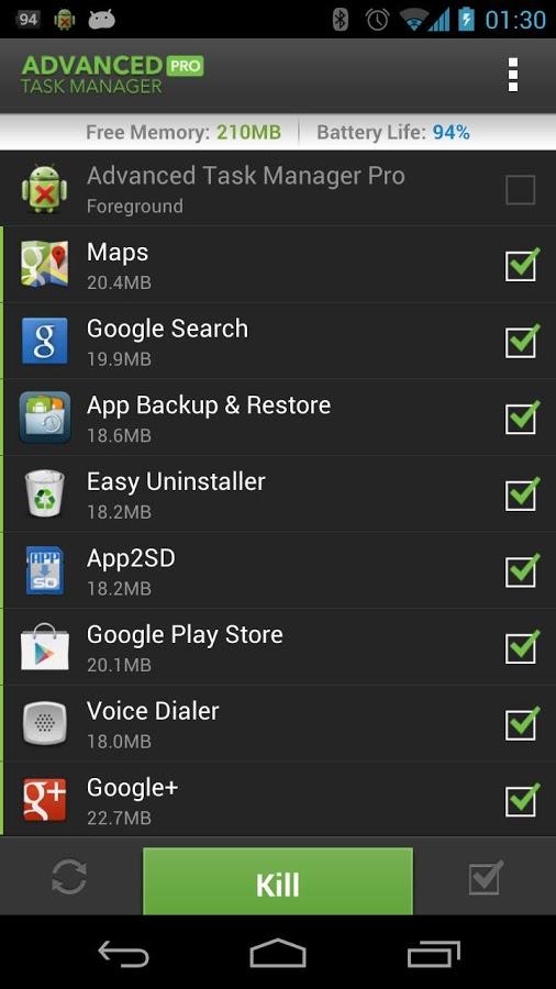 تسک منیجر حرفه برای گوشی های اندروید Advanced Task Manager Pro
