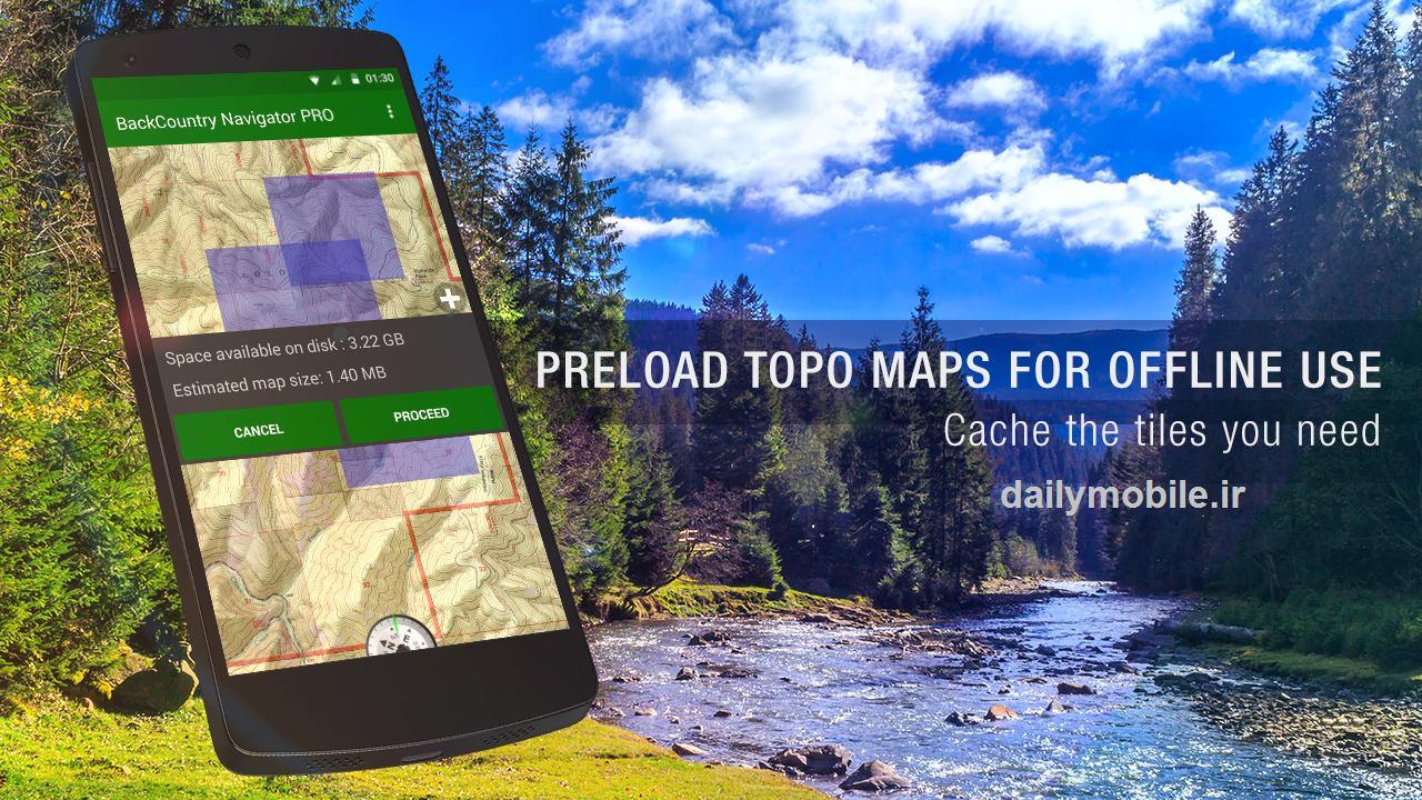 دانلود قطب نمای پیشرفته برای اندروید BackCountry Navigator TOPO GPS