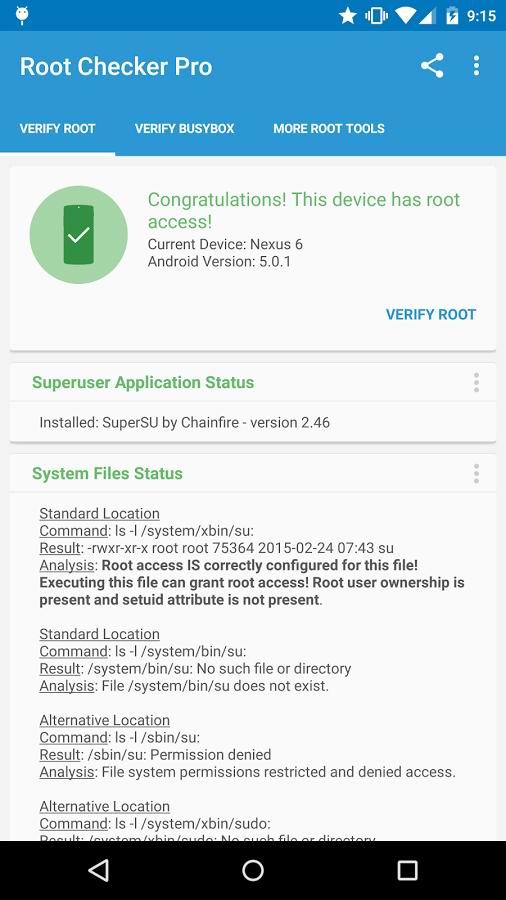 Root Checker Pro دانلود برنامه تشخص روت بودن گوشی های اندرویدی