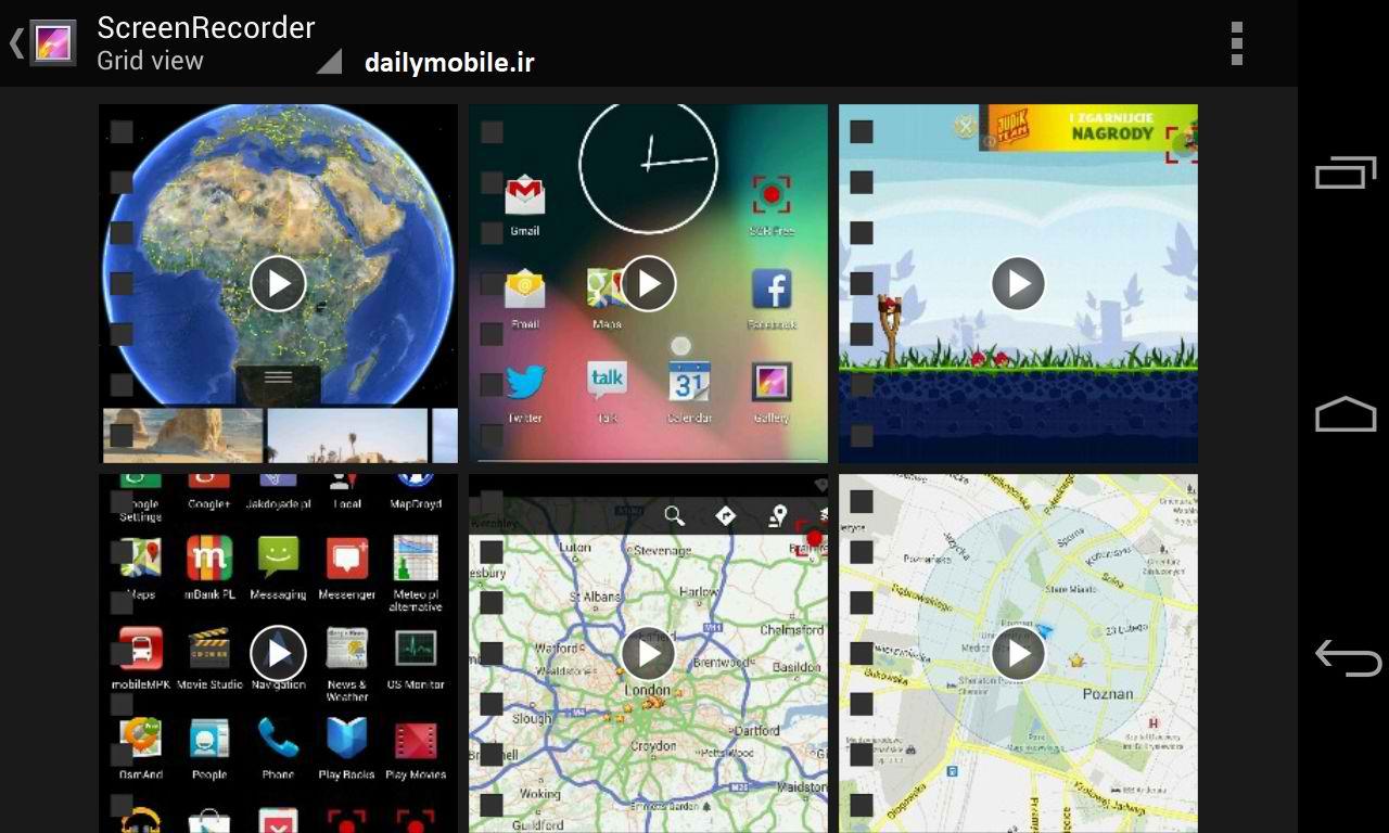 برنامه فیلم برداری از صفحه نمایش اندروید SCR Screen Recorder Pro