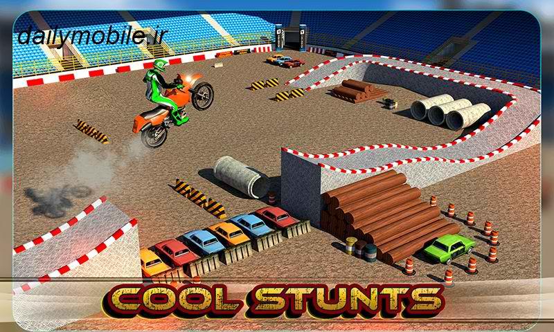 دانلود بازی زیبای موتور سوار دیوانه برای اندروید Crazy Biker 3D