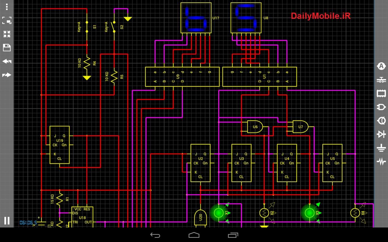 دانلود نرم افزار Droid Tesla Pro شبیه ساز مدار برای اندروید