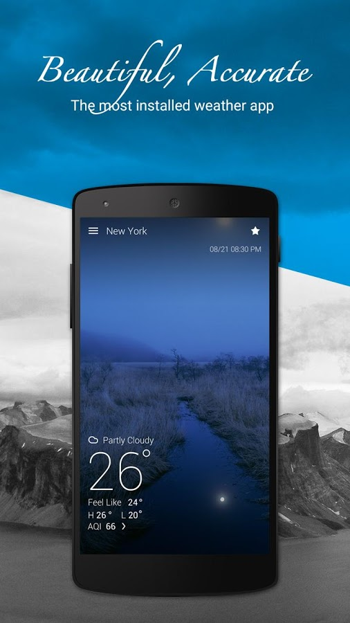 دانلود برنامه ی پیش بینی آب هوا GO Weather Forecast & Widgets Premium اندروید