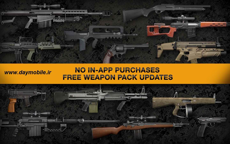 دانلود بازی شبیه ساز اسلحه برای اندروید Weaphones Firearms Sim Vol 2
