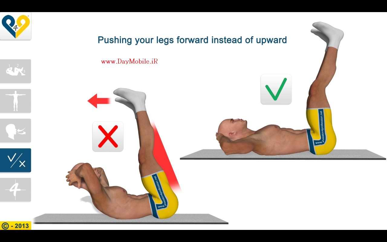 دانلود نرم افزار تناسب اندام شکم برای اندروید Minutes Abs Workout