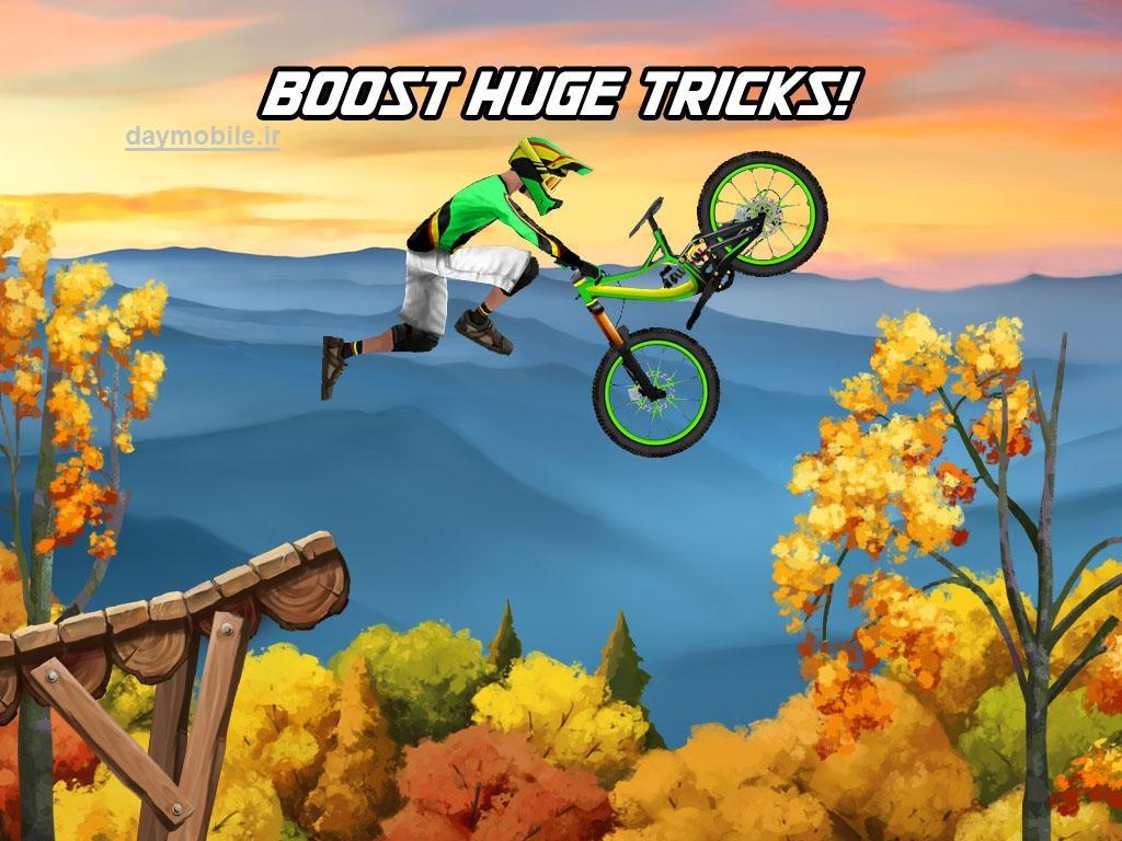 دانلود بازی دوچرخه سواری بسیار زیبا برای اندروید Bike Mayhem Mountain Racing