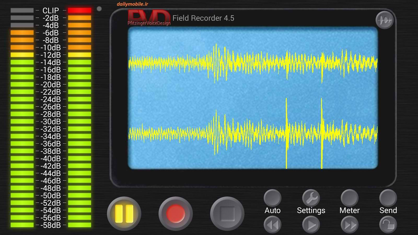 دانلود برنامه ضبط صدا قدرتمند برای اندروید Field Recorder