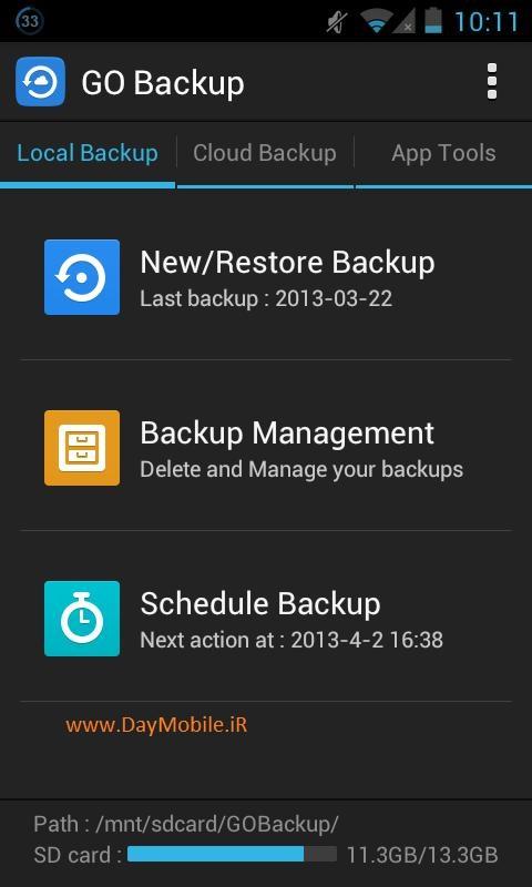 دانلود نرم افزار بکاپ گیری از اطلاعات گوشی های اندروید GO Backup & Restore Pro