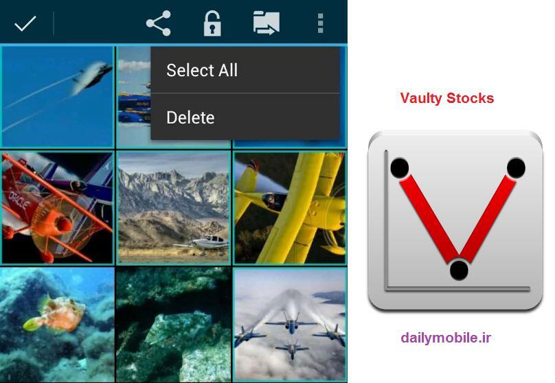 دانلود نرم افزار فوق العاده جهت مخفی کردن عکس ها و فیلم ها در اندروید Vaulty Stocks