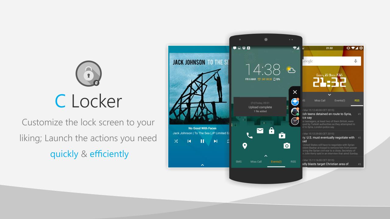 دانلود برنامه لاک اسکرین پیشرفته برای اندروید C Locker Pro