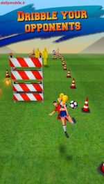 دانلود بازی زیبای دونده فوتبال برای اندروید Soccer Runner: Football rush!