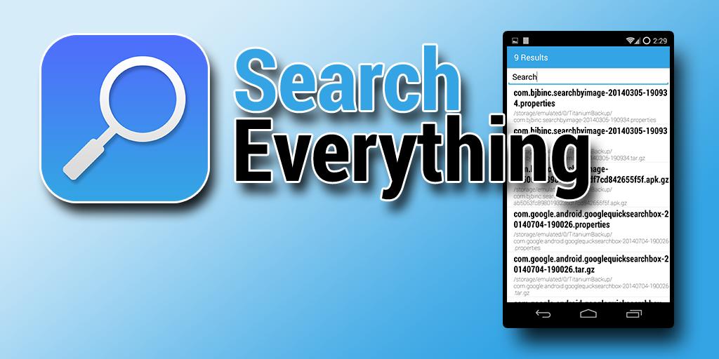 نرم افزار جستوجو در میان فایل ها برای اندروید Search Everything v1.07