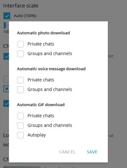 جلوگیری از دانلود خودکار فایل ها در تلگرام