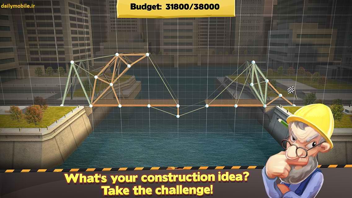 دانلود بازی پل سازی برای اندروید Bridge Constructor