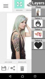 نرم افزار تتو روی عکس برای اندروید Tattoo my Photo 2.0