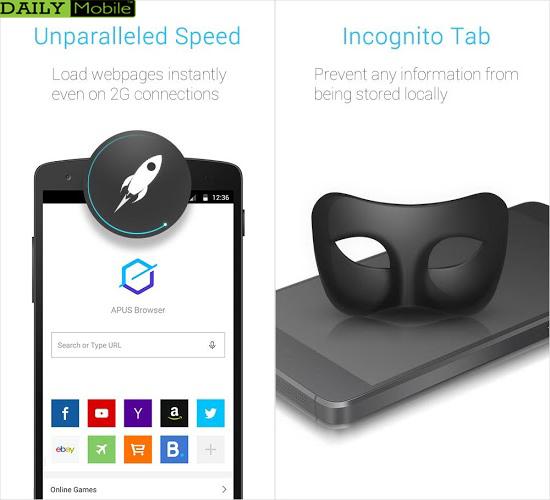 دانلود مرورگر كم حجم و قدرتمند APUS Browser - Fast Download