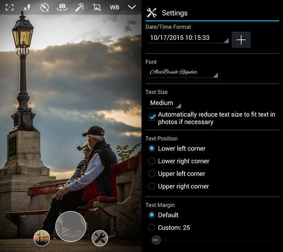 نرم افزار درج تاریخ و زمان بر روی تصاویر در اندروید Camera Timestamp