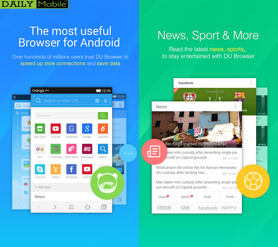 دانلود مرورگر قدرتمند DU Browser اندروید با لینک مستقیم و رایگان