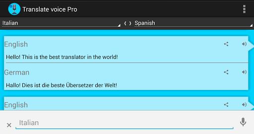 دانلود برنامه فوق العاده مترجم صوتی برای اندروید Translate voice – Pro