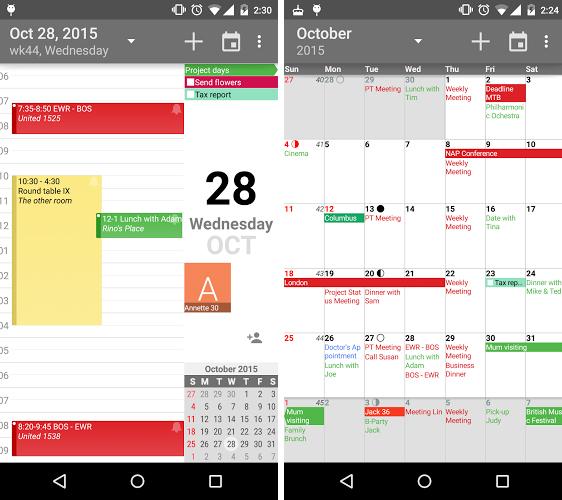 دانلود تقویم به همراه تقویم ایران و تمام مناسبت ها aCalendar+ Calendar & Tasks