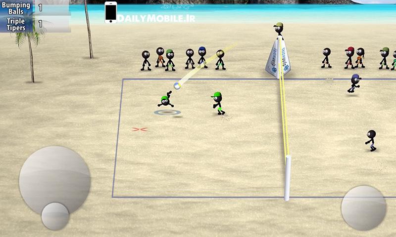 دانلود بازی والیبال Stickman Volleyball برای اندروید