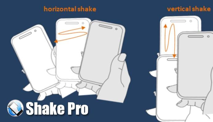 دانلود نرم افزار کنترل گوشی با تکان دادن در اندروید Shake Pro