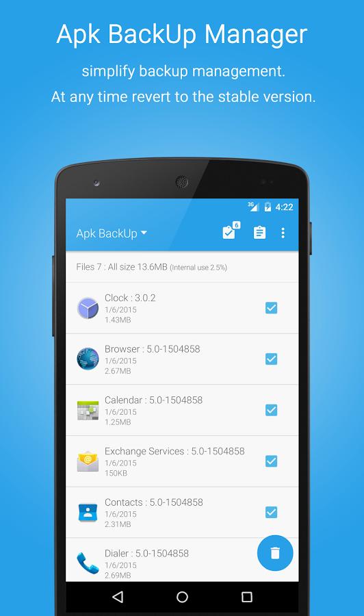 مدیریت برنامه های اندروید App Manager:Uninstaller&Backup
