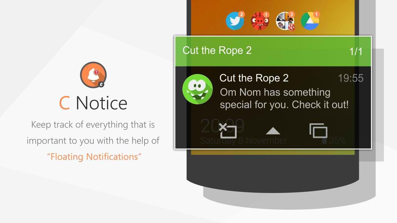 دانلود اپلیکیشن دریافت اعلانات بصورت زیبا در اندروید C Notice Prime