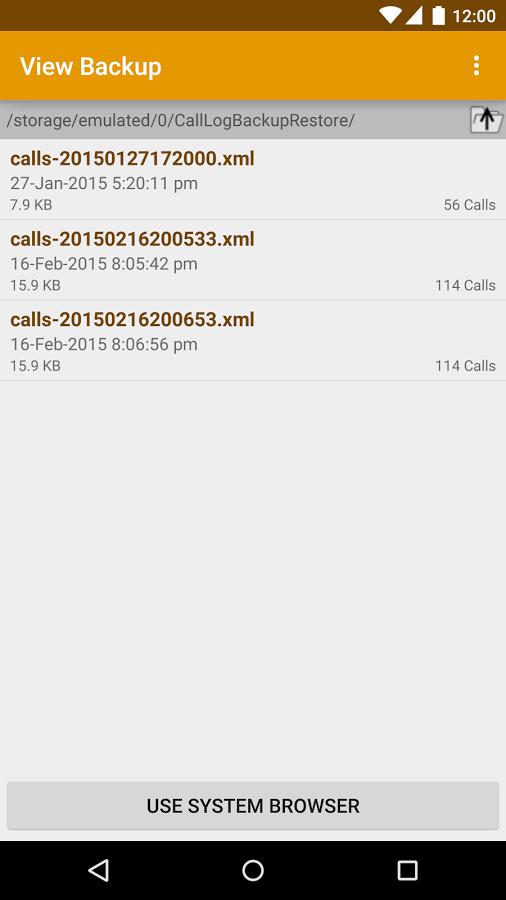 برنامه بکاپ گیری از تاریخچه تماس ها Call Logs Backup & Restore Pro