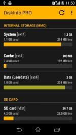 دانلود برنامه نمایش اطلاعات حافظه اندروید DiskInfo PRO