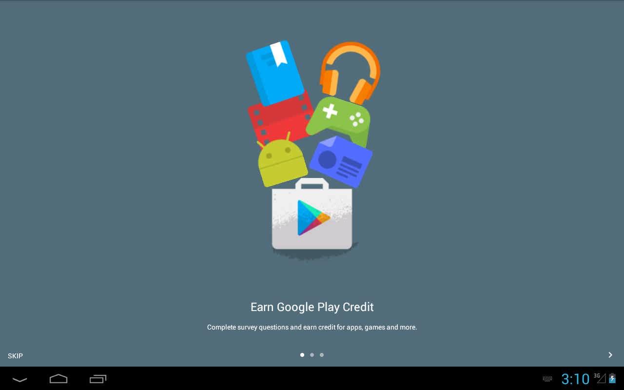 نرم افزار دریافت اعتبار از گوگل پلی Google Opinion Rewards اندروید