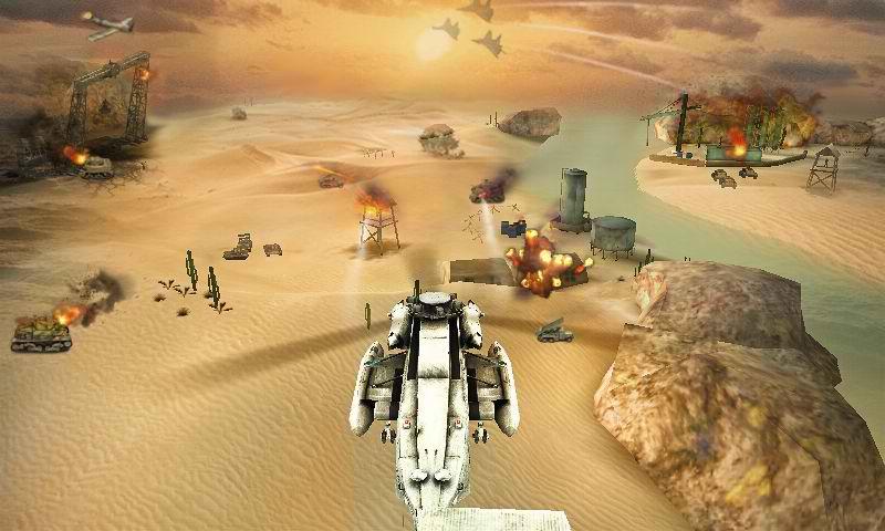 دانلود بازی اکشن هلیکوپتر واقعی برای اندروید Gunship Strike 3D