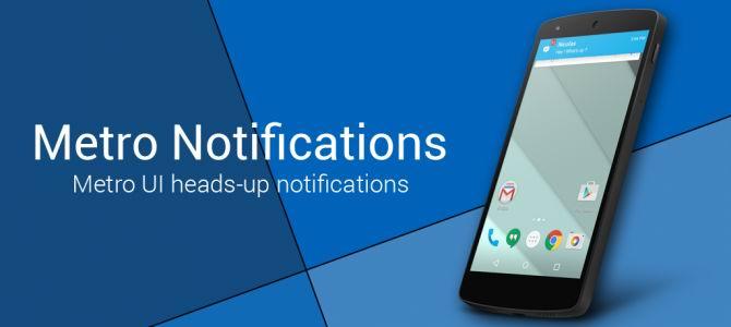 دانلود برنامه نمایش اعلانات اندروید به سبک ویندوزفون Metro Notifications