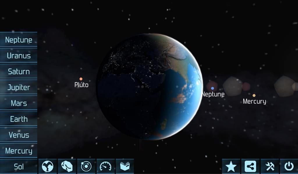 دانلود نرم افزار منظومه شمسی برای اندروید Solar System Explorer HD Pro