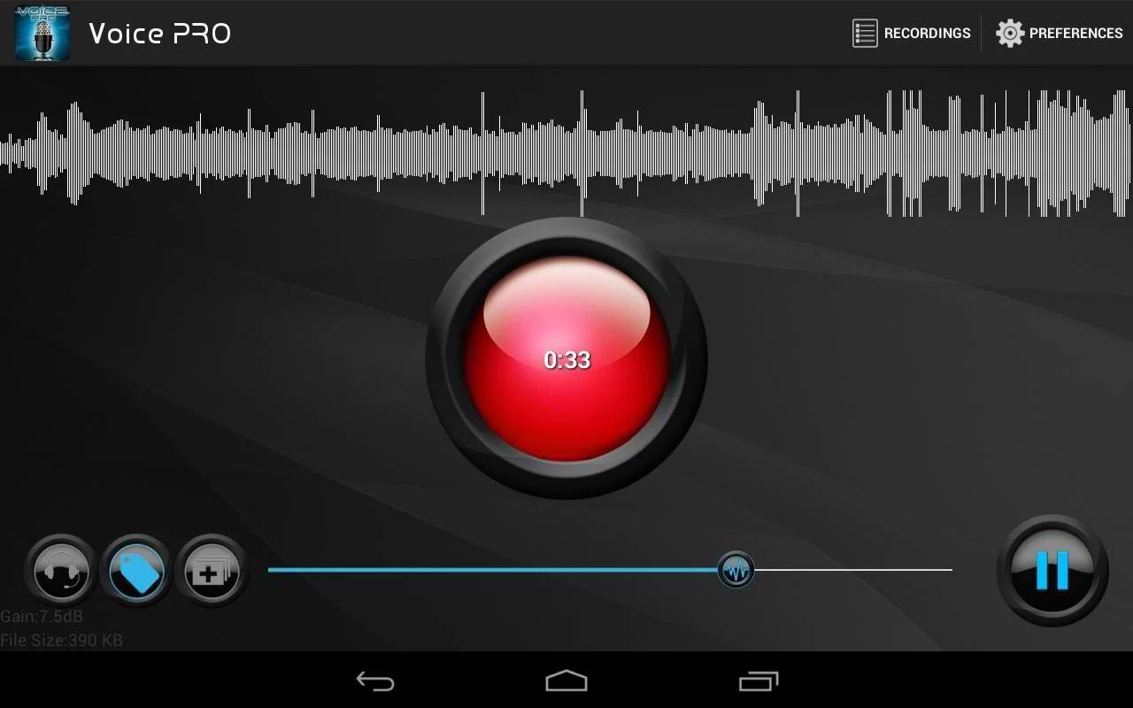 دانلود برنامه اندروبد ویرایش و ضبط فایل های صوتی Voice PRO - HQ Audio Editor