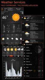 دانلود نرم افزار پیش بینی آب و هوای Weather Services PRO اندروید