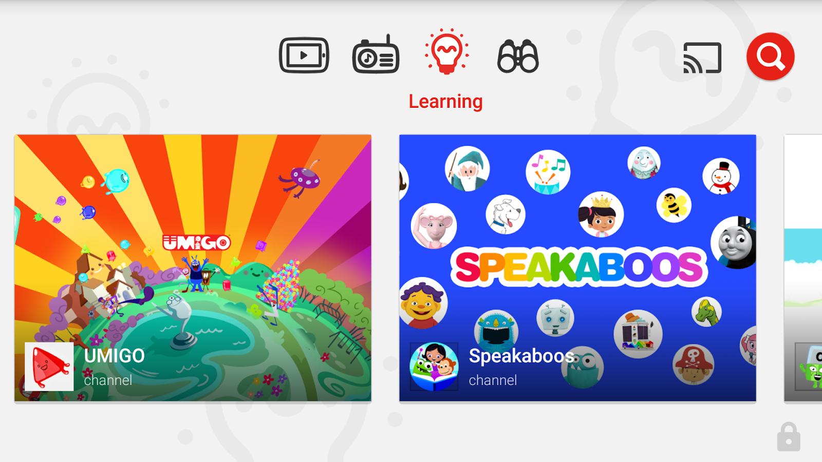 دانلود برنامه یوتیوب مخصوص کودکان برای اندروید